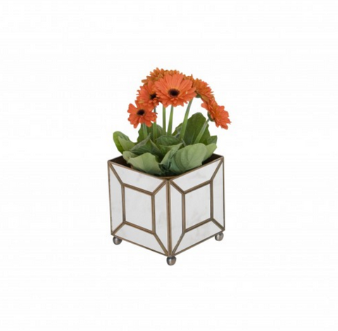 Worlds Away Classic Mirrored Planter Box - Matthew Izzo Home