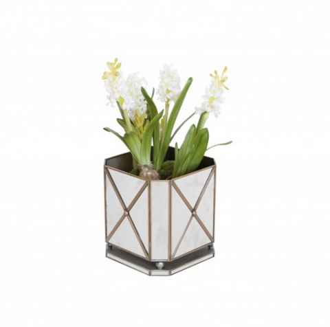 Worlds Away Regency Mirrored Planter Box - Matthew Izzo Home