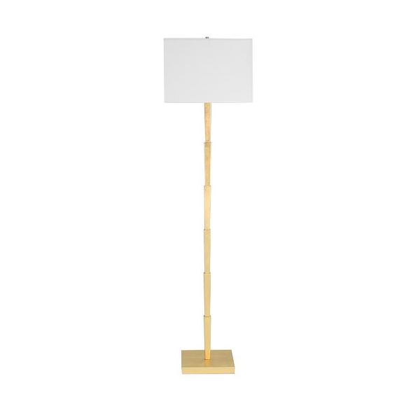 Worlds Away Norton Tiered Gold Leaf Floor Lamp - Matthew Izzo Home