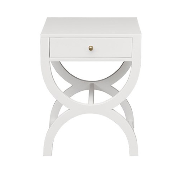 Worlds Away Alexis Elegant Side Table - Matthew Izzo Home