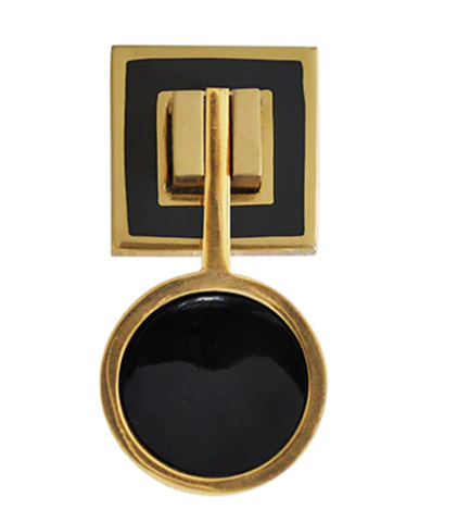 Worlds Away Milan Brass and Resin Pull Handle - Matthew Izzo Home