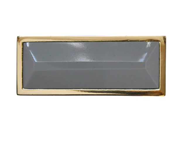 Worlds Away Rectangle Knob in Brass and Resin - Matthew Izzo Home