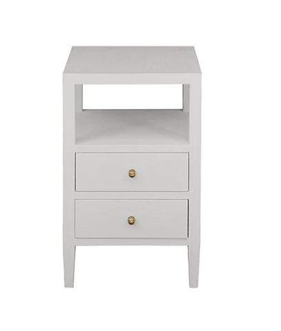 Worlds Away Roscoe Two Drawer Side Table - Matthew Izzo Home