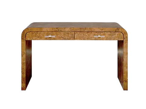 Worlds Away Petra Burl Wood Desk - Matthew Izzo Home
