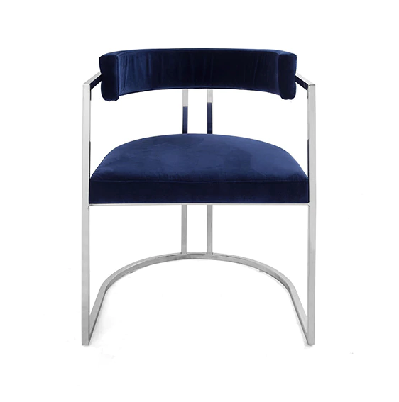 Worlds Away Mona Barrel Back Dining Chair - Matthew Izzo Home