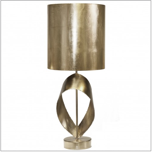 Worlds Away Jennings Silver Leaf Table Lamp - Matthew Izzo Home