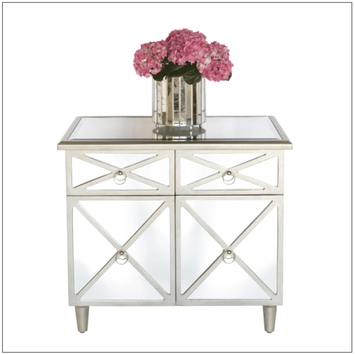Worlds Away Claud Mirrored Chest - Matthew Izzo Home