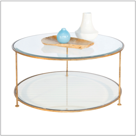 Worlds Away Rollo Round Coffee Table - Matthew Izzo Home