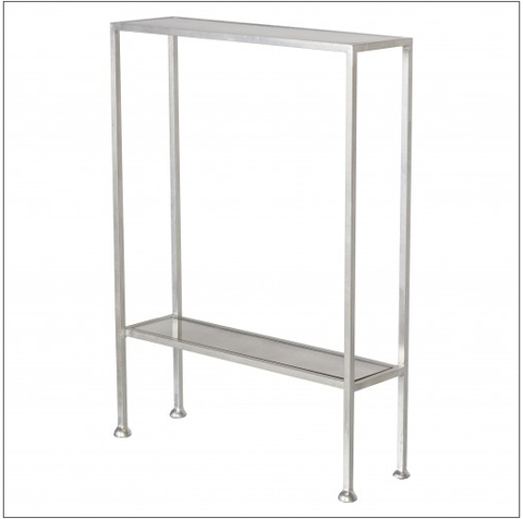 Worlds Away Porter Silver Leaf Narrow Side Table - Matthew Izzo Home