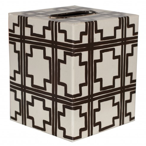 Worlds Away Kleenex Box Cream Squares - Matthew Izzo Home