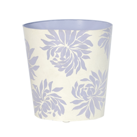 Worlds Away Oval Wastebasket Floral Design - Matthew Izzo Home