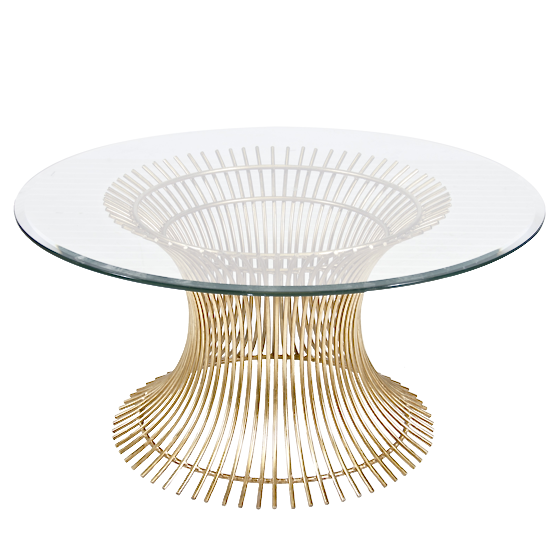 Worlds Away Powell Gold Leaf Coffee Table - Matthew Izzo Home