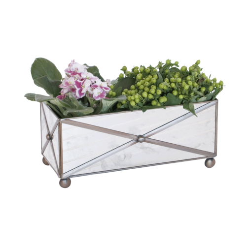 Worlds Away Rectangular Crosshatch Antique Planter - Matthew Izzo Home
