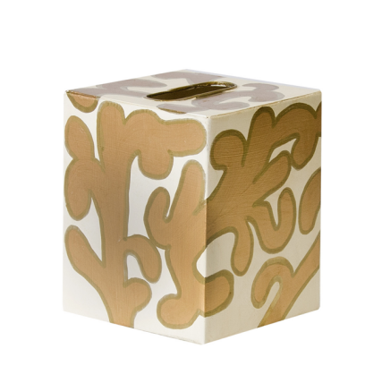 Worlds Away Kleenex Box Cream Pattern - Matthew Izzo Home