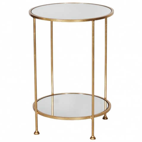 Worlds Away Chico Gold Side Table - Matthew Izzo Home