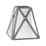 Worlds Away Antique Mirror Square Cross Hatch Shade - Matthew Izzo Home