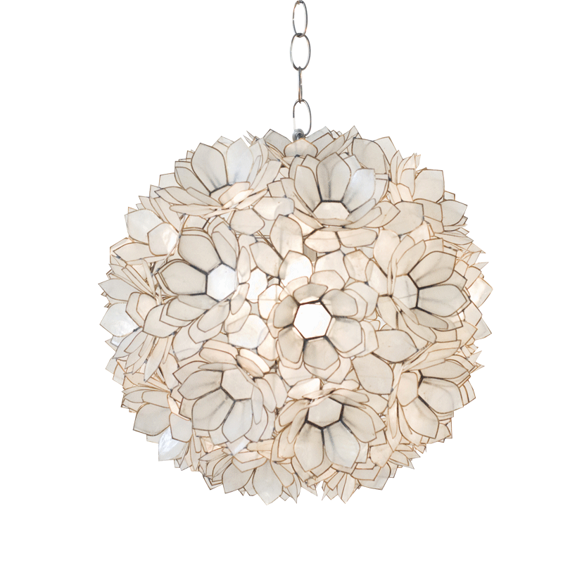 Worlds Away Venus Capiz Shell Floral Pendant - Matthew Izzo Home