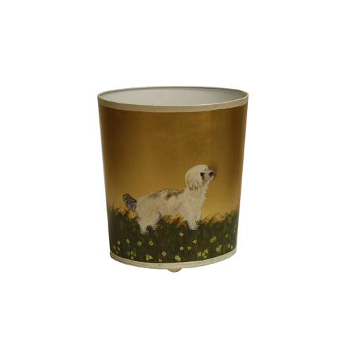 Worlds Away Canine Themed Wastebaskets - Matthew Izzo Home