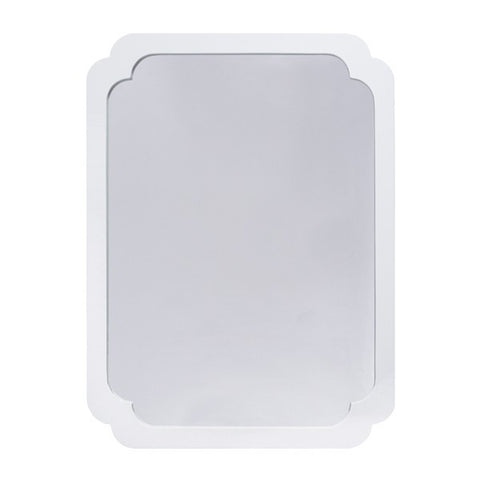 Worlds Away Amelia Modern White Mirror - Matthew Izzo Home