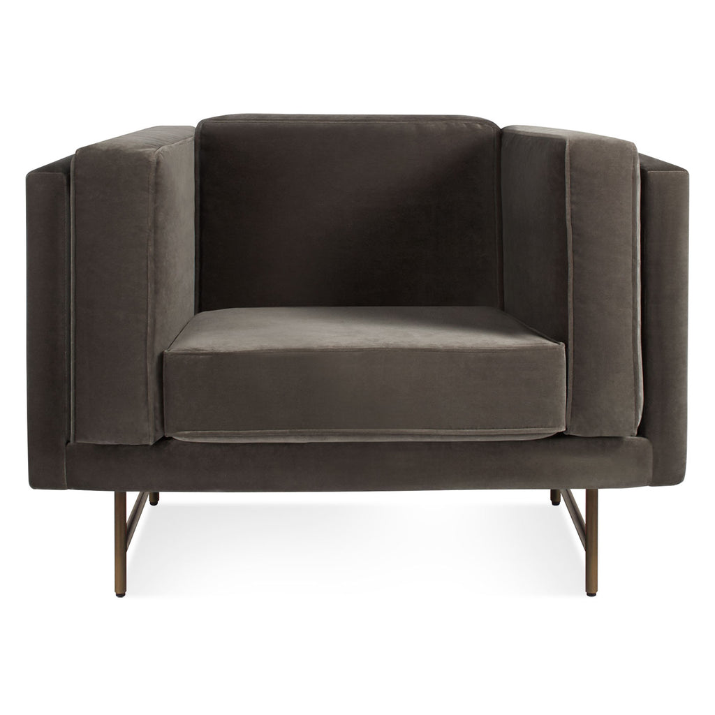 Blu Dot Bank Mink Velvet Lounge Chair - Matthew Izzo Home