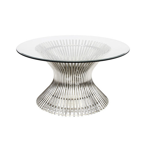 Worlds Away Powell Stainless Steel Coffee Table - Matthew Izzo Home