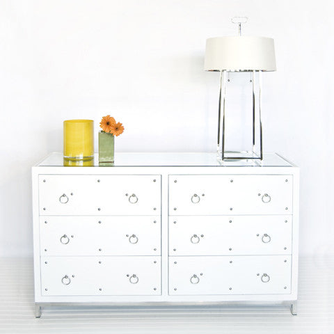 Worlds Away Studly 6 Drawer Dresser - Matthew Izzo Home
