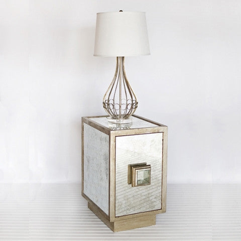 Worlds Away Savannah End Table - Matthew Izzo Home