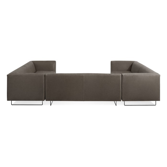 Bonnie And Clyde U Shaped Leather Sectional Sofa