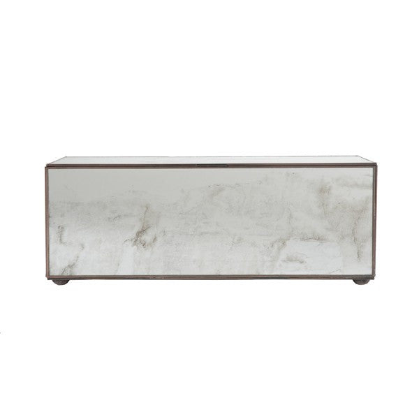 Worlds Away Rectangular Antique Mirror Box - Matthew Izzo Home