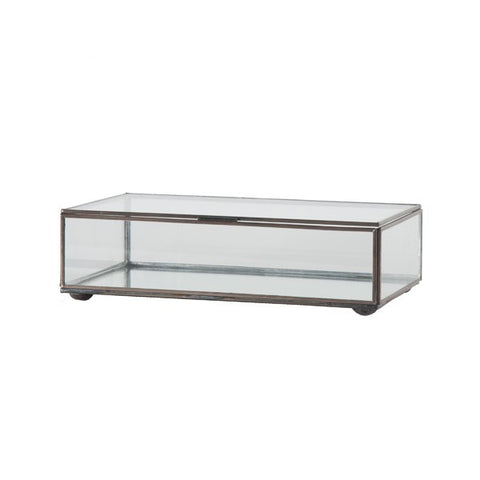 Worlds Away Rectangular Clear Glass Box - Matthew Izzo Home