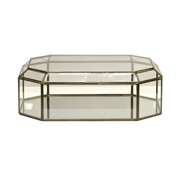 Worlds Away Octagonal Clear Glass Box - Matthew Izzo Home