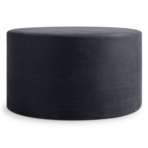 Blu Dot Bumper Large Leather Ottoman - Matthew Izzo Home