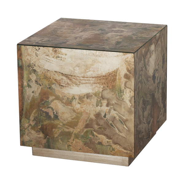 Worlds Away Small Reverse Cubo Side Table - Matthew Izzo Home