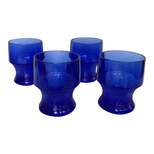 Vintage Cobalt Blue Depression Glasses - Matthew Izzo Home