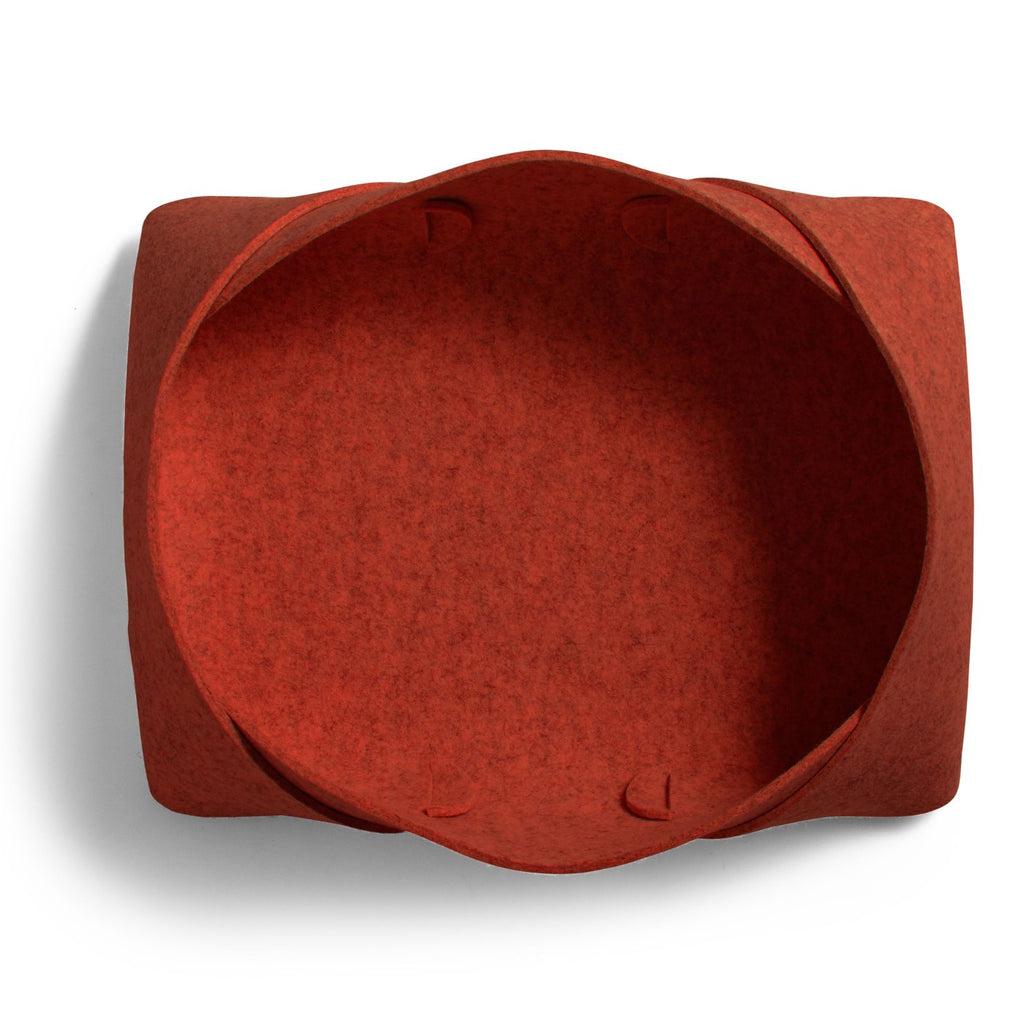 Blu Dot Double Tuck Large Felt Basket in Red - Matthew Izzo Home