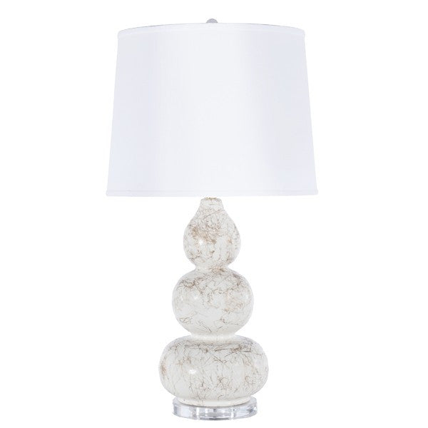 Worlds Away Delaney White Table Lamp - Matthew Izzo Home