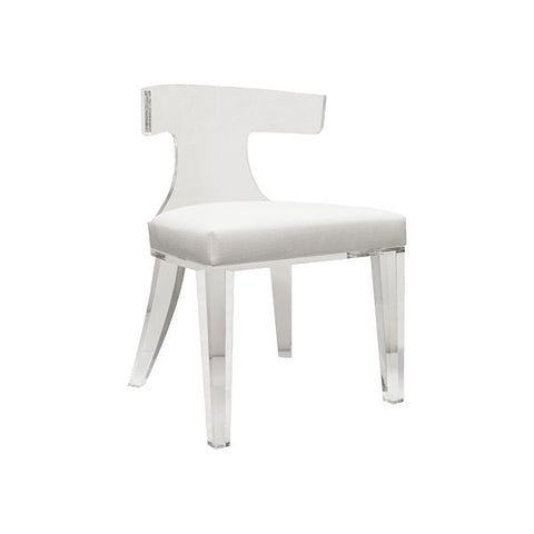 Worlds Away Duke Acrylic Klismos Chair - Matthew Izzo Home