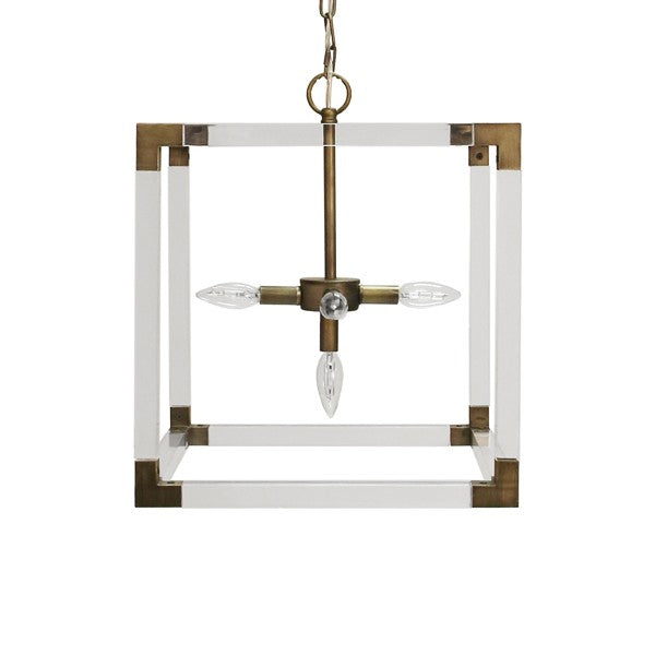 Worlds Away Eli Modern Square Pendant Light - Matthew Izzo Home