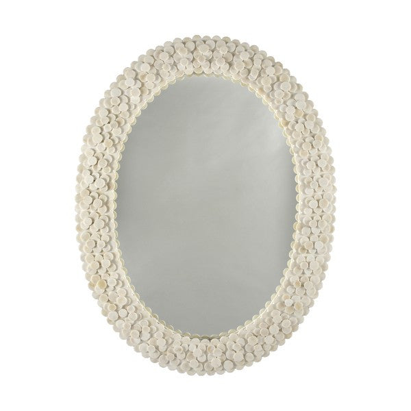 Worlds Away Heather Oval Mirror - Matthew Izzo Home