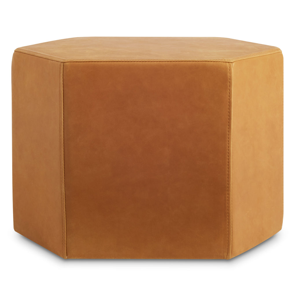 Blu Dot Hecks Leather Ottoman - Matthew Izzo Home
