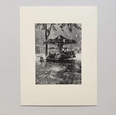 Monsieur Barre's Merry-Go-Round, 1955, Photogravure by Robert Doisneau - Matthew Izzo Home
