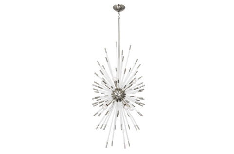 Robert Abbey Andromeda Nickel Vertical Chandelier - Matthew Izzo Home
