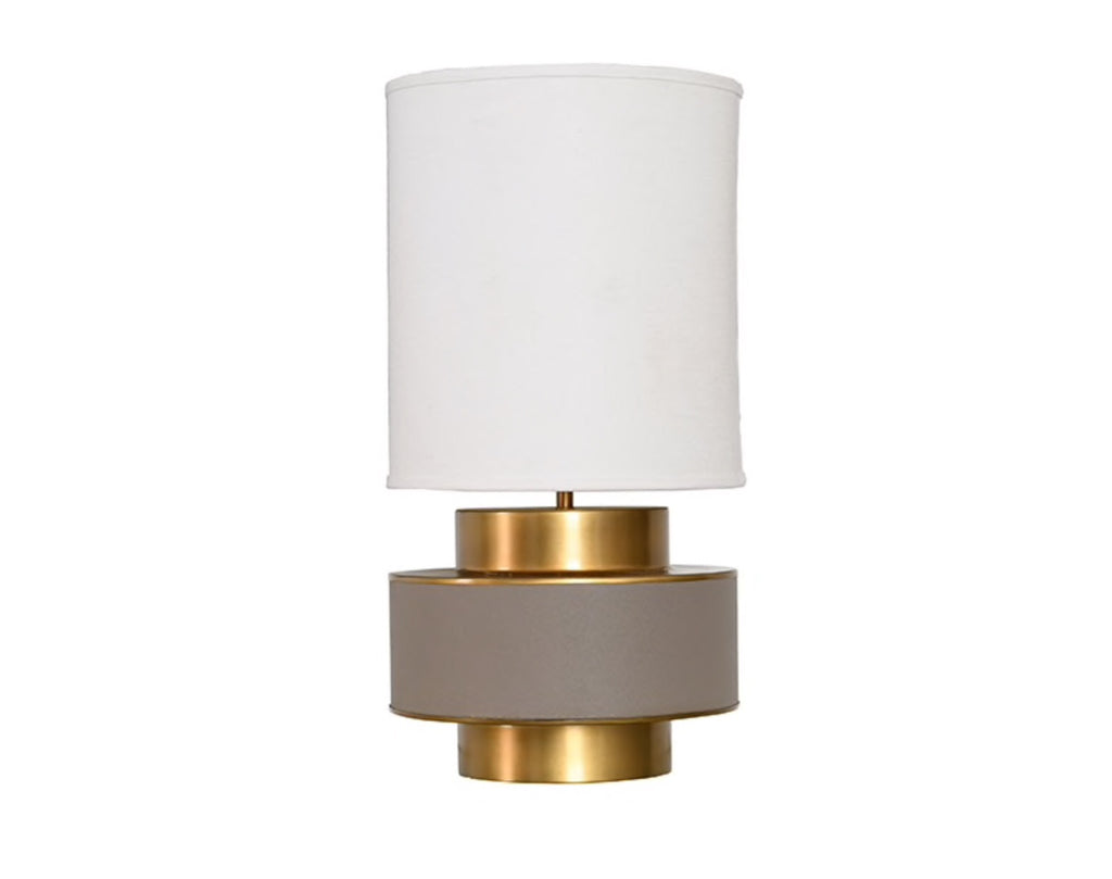 Worlds Away Sherwyn Grey Shagreen Table Lamp - Matthew Izzo Home