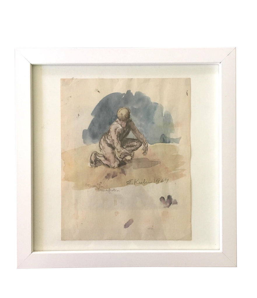 Watercolor Figure Painting by Evan Keehn (1964) - Matthew Izzo Home