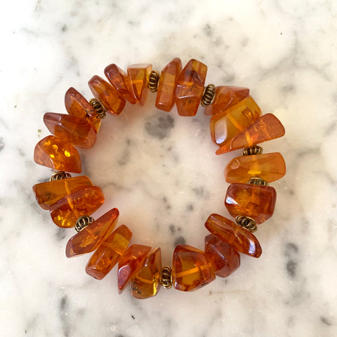 Amber and Brass bracelet - Matthew Izzo Home
