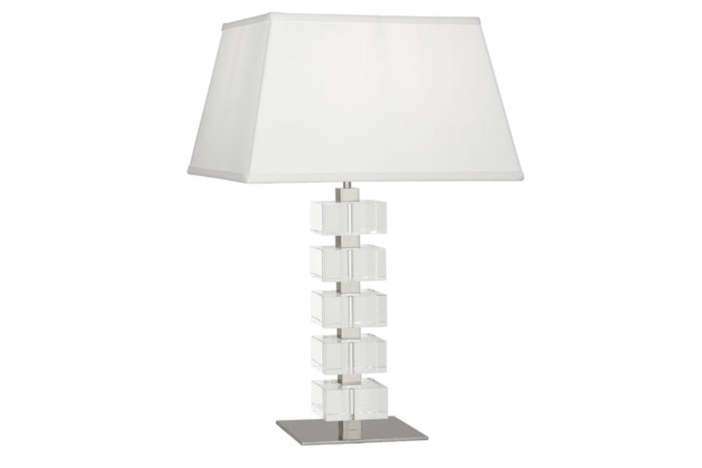 Jonathan Adler Monaco Clear Crystal Block Table Lamp - Matthew Izzo Home