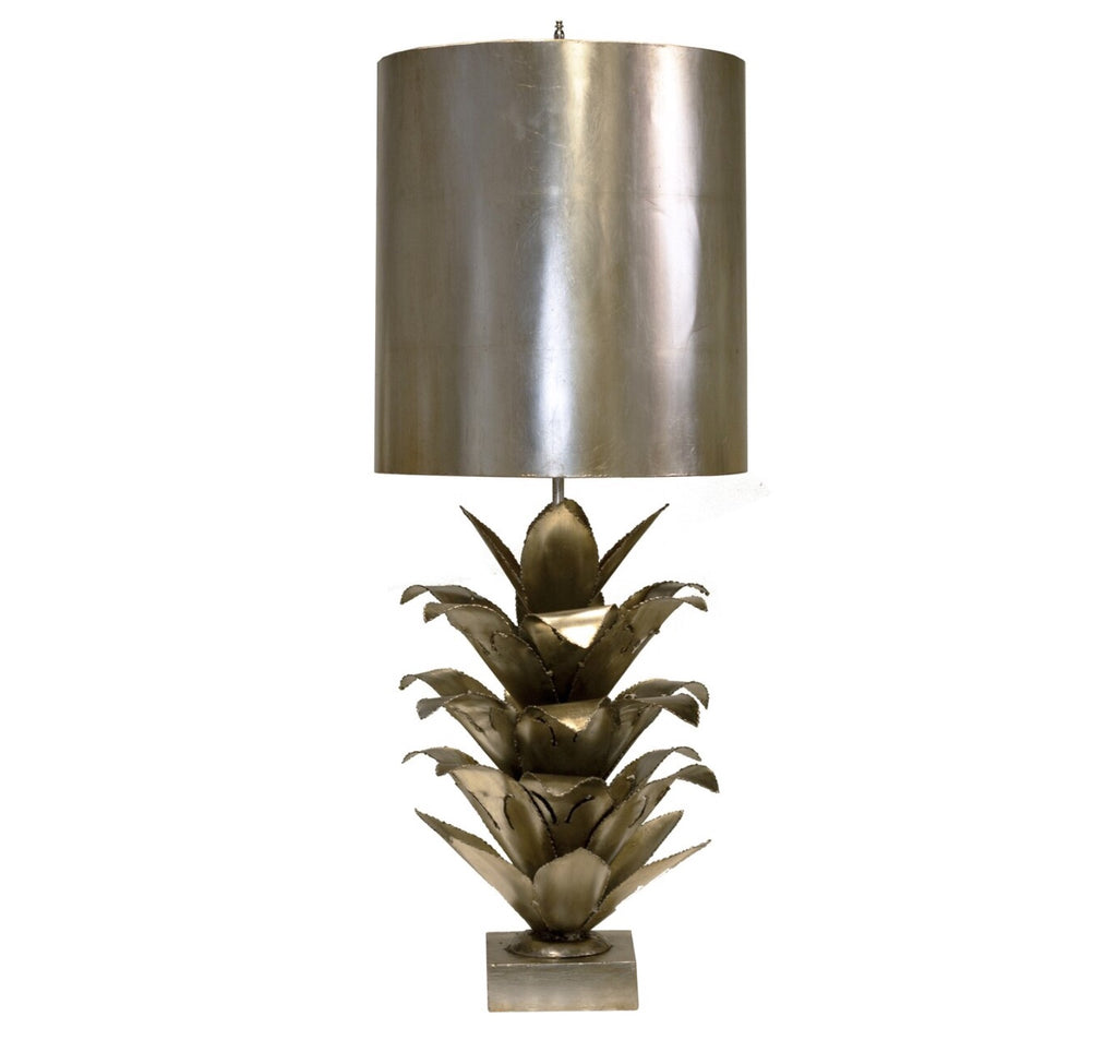 Worlds Away Arianna Silver Leaf Table Lamp - Matthew Izzo Home