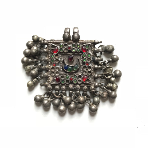 Antique Silver Indian Pendant - Matthew Izzo Home