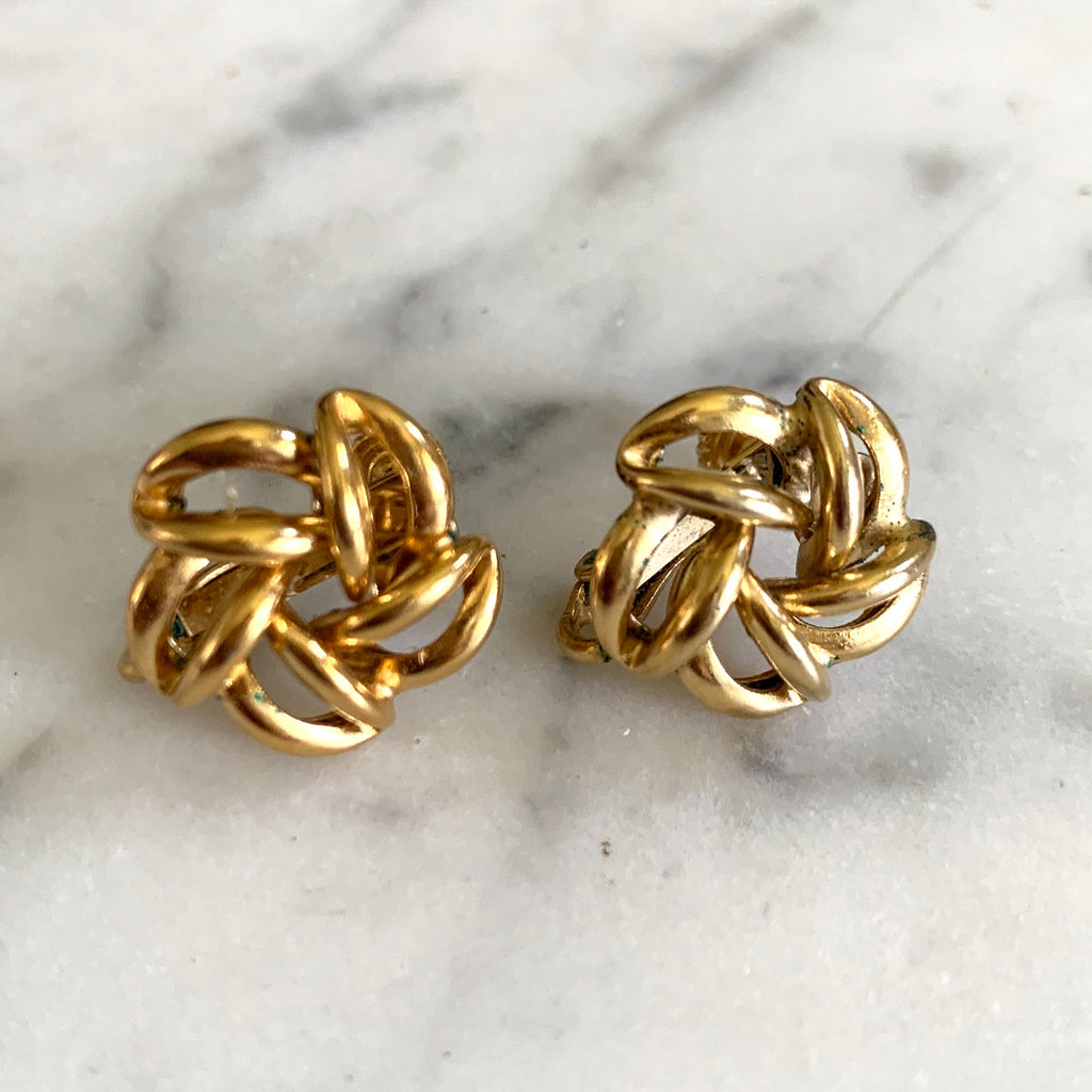 1960s Napier Gold Earrings - Matthew Izzo Home