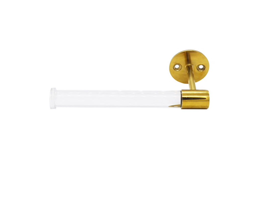 Worlds Away Duffy Brass Toilet Paper Holder - Matthew Izzo Home